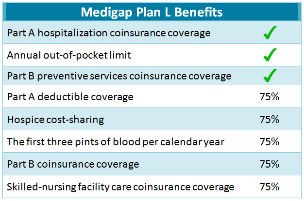 Medicare Supplement Plan L list of benefits