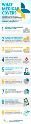 An infographic showing the coverage and benefits of Medicare Supplements